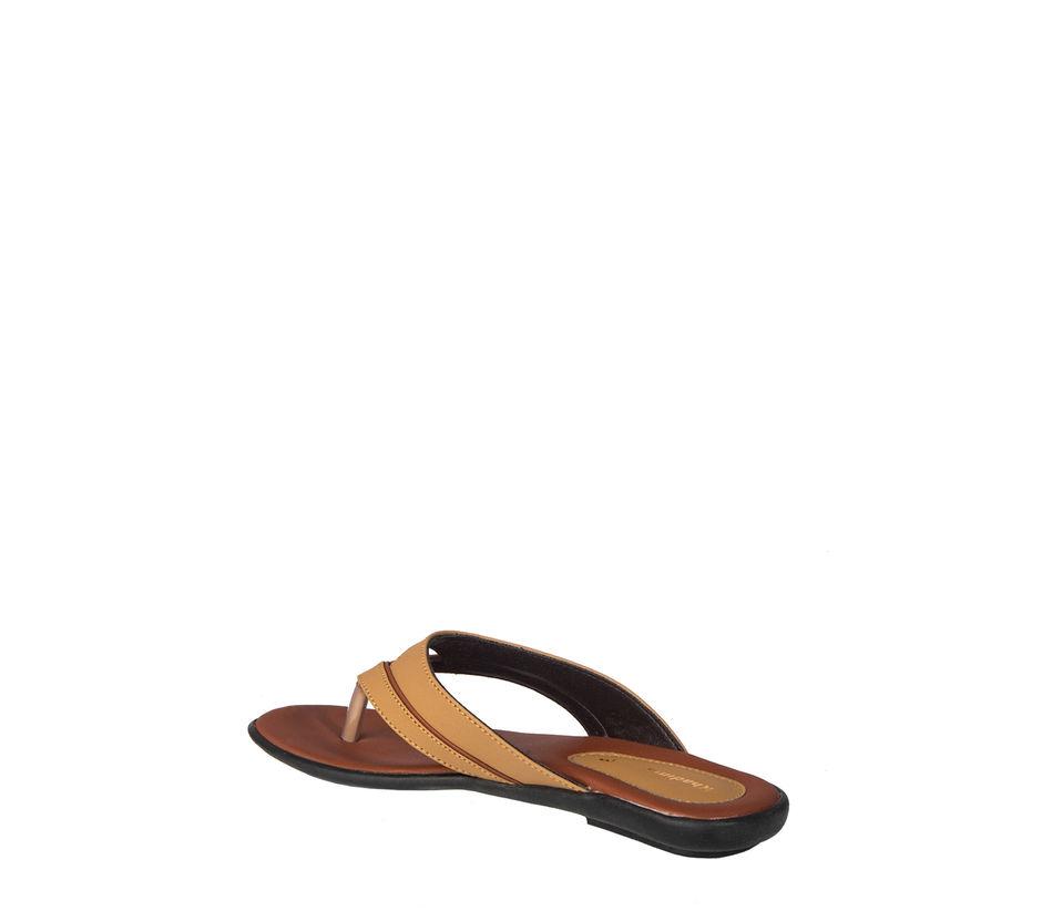 Khadim's Women Tan Casual Flat Slipper