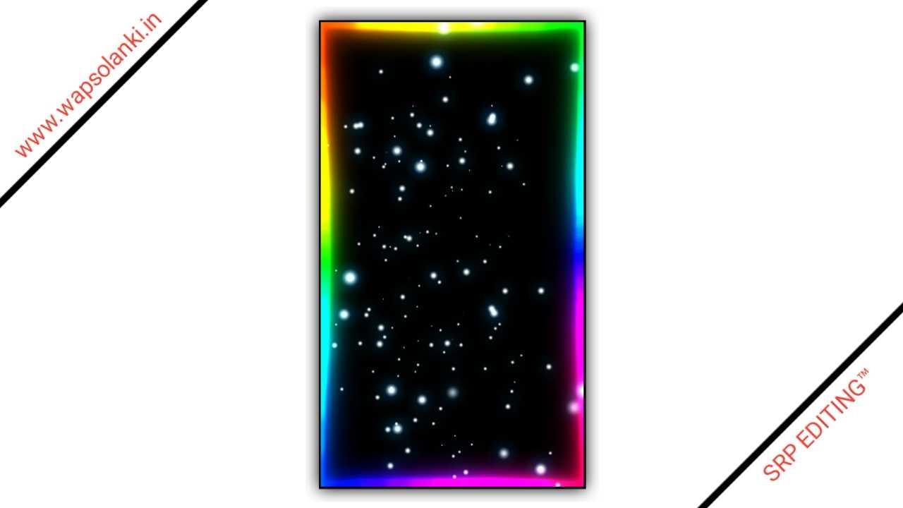 Multiple Color Neon Light Border Kinemaster Template 2021