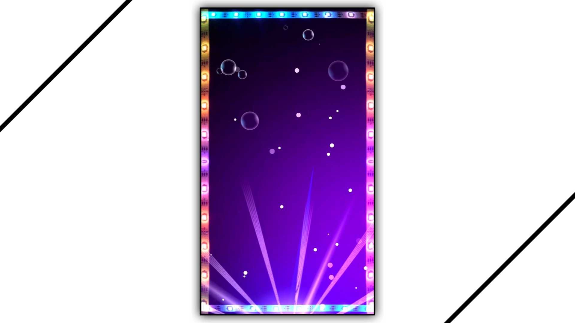 Neon LED Strip Lights Effect Background Kinemaster Template Download HD