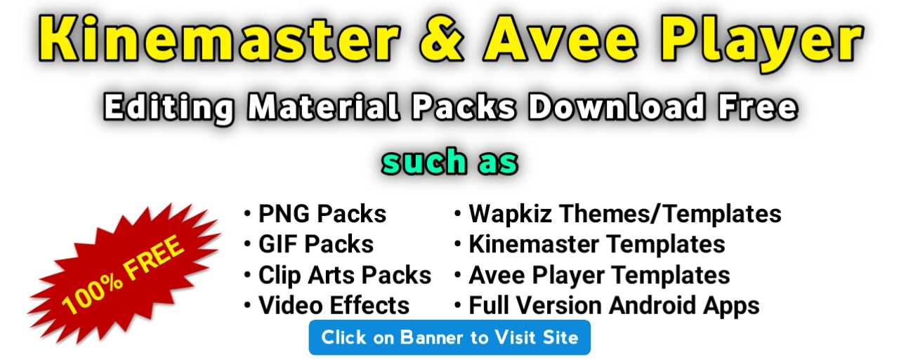 Video & Photo Editing Material Download