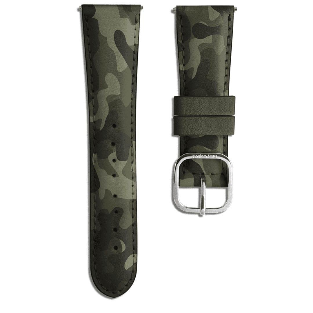Dark Camo Leather Universal WatchBand| Klippik Kuwait