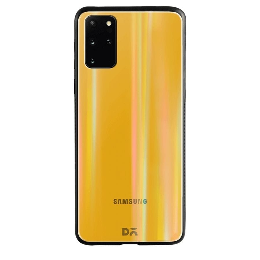Summer Yellow Holographic Glass Case Cover for S20 Plus | Klippik Kuwait