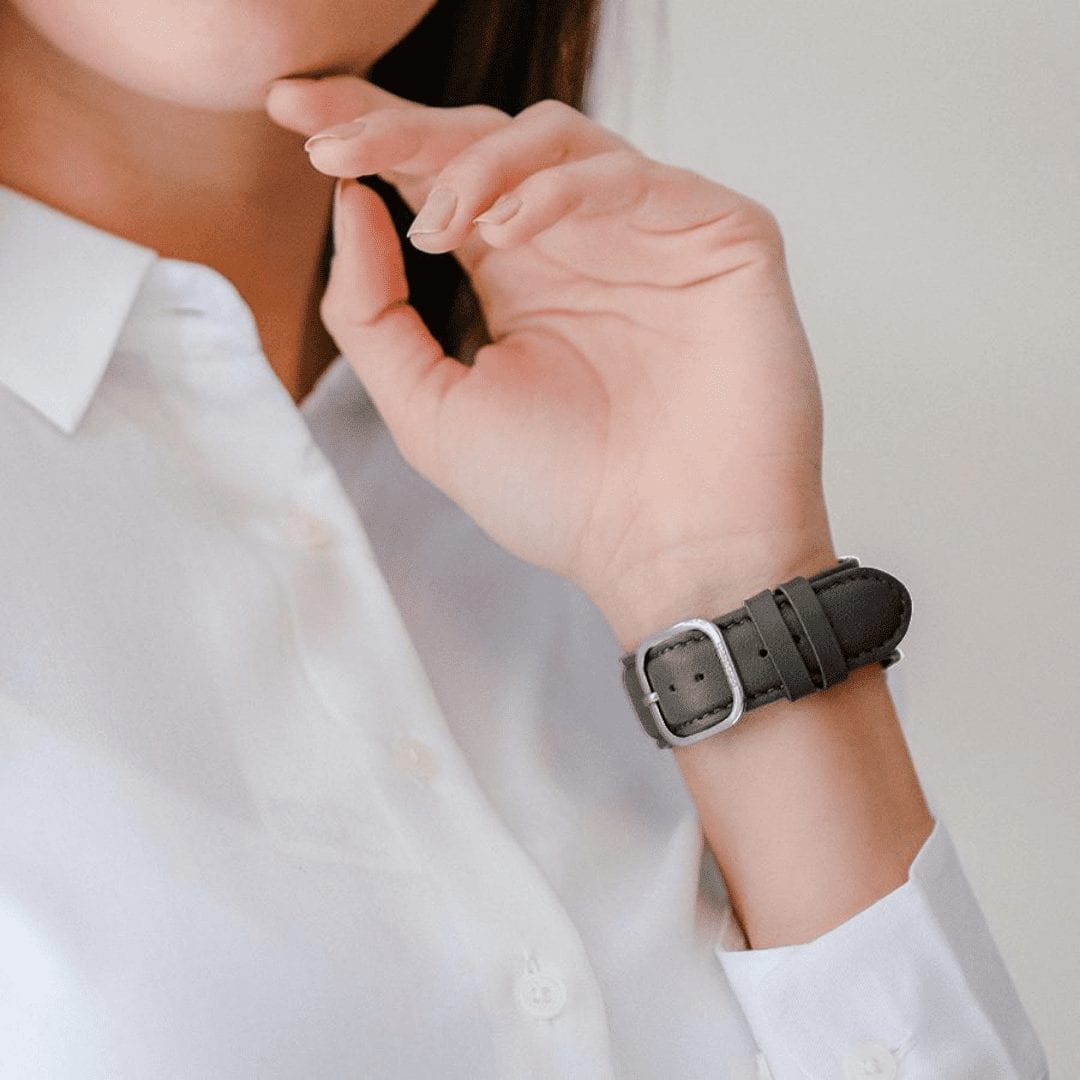 Grey Napa Leather Universal WatchBand KLIPPIK KUWAIT