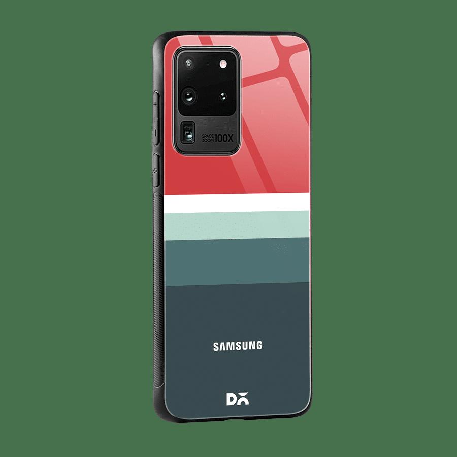 Green & Red Glass Case Cover for S20 Ultra Klippik Kuwait