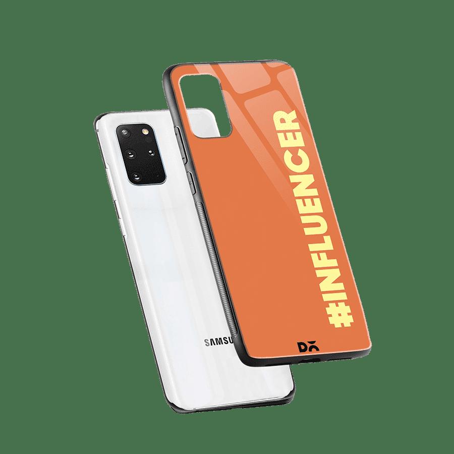Influencer Glass Case Cover for S20 Plus Klippik Kuwait