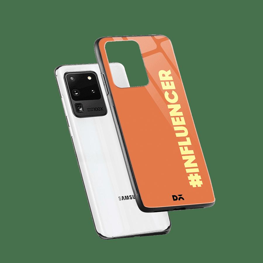 Influencer Glass Case Cover for S20 Ultra Klippik Kuwait