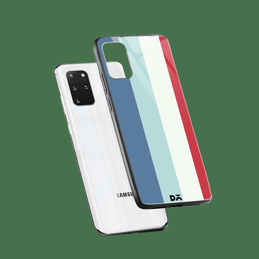 Light Blue Vertical Glass Case Cover For Samsung Galaxy S20 Plus Klippik Kuwait