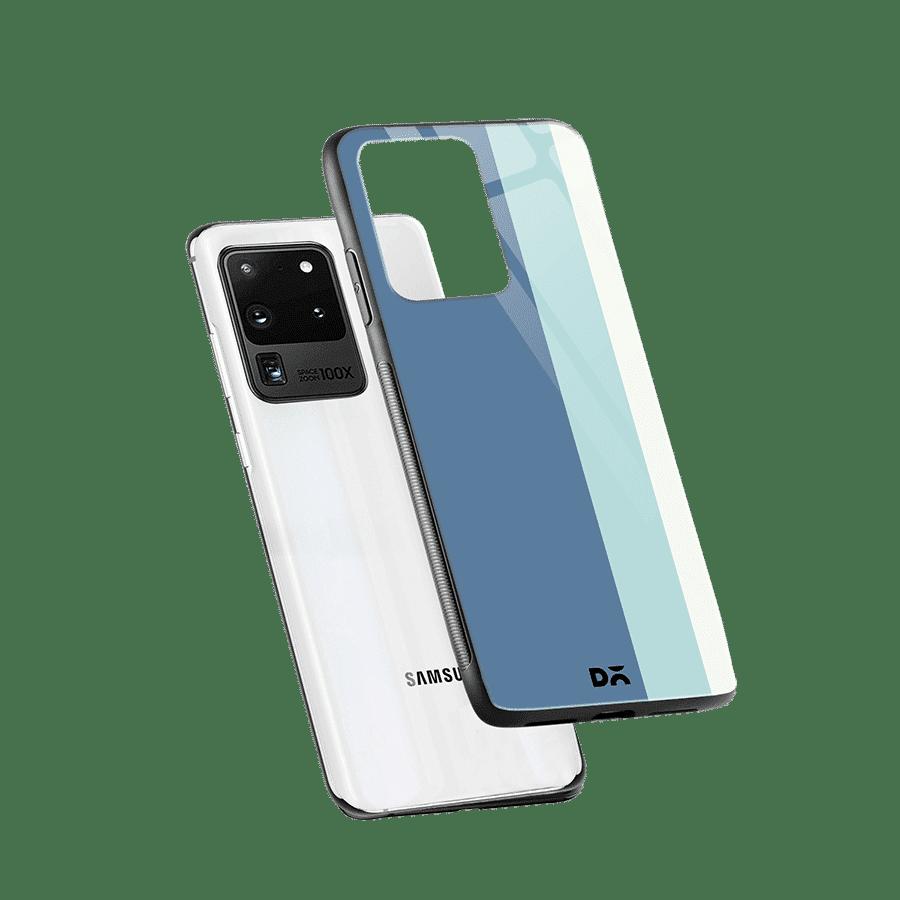 Light Blue Vertical Glass Case Cover For Samsung Galaxy S20 Ultra Klippik Kuwait
