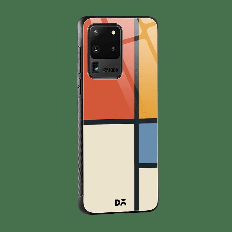 Orange Window Glass Case Cover for S20 Ultra Klippik Kuwait