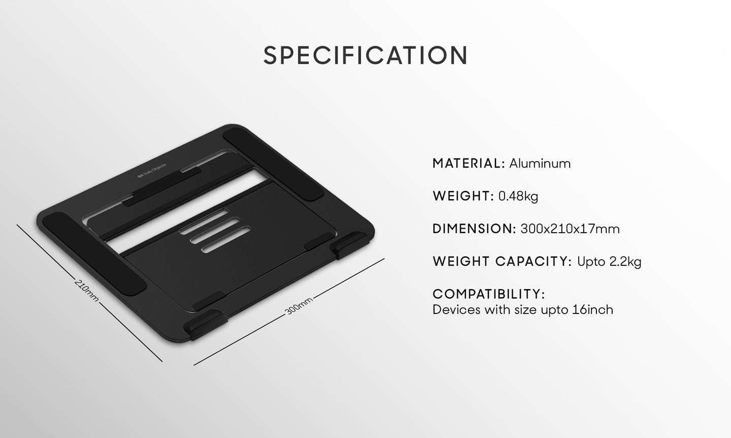 Specifications Stands