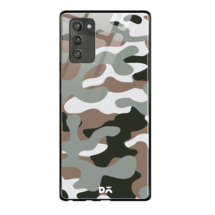 Camouflage Army Glass Case Cover For Samsung Galaxy Note 20 | Klippik Kuwait
