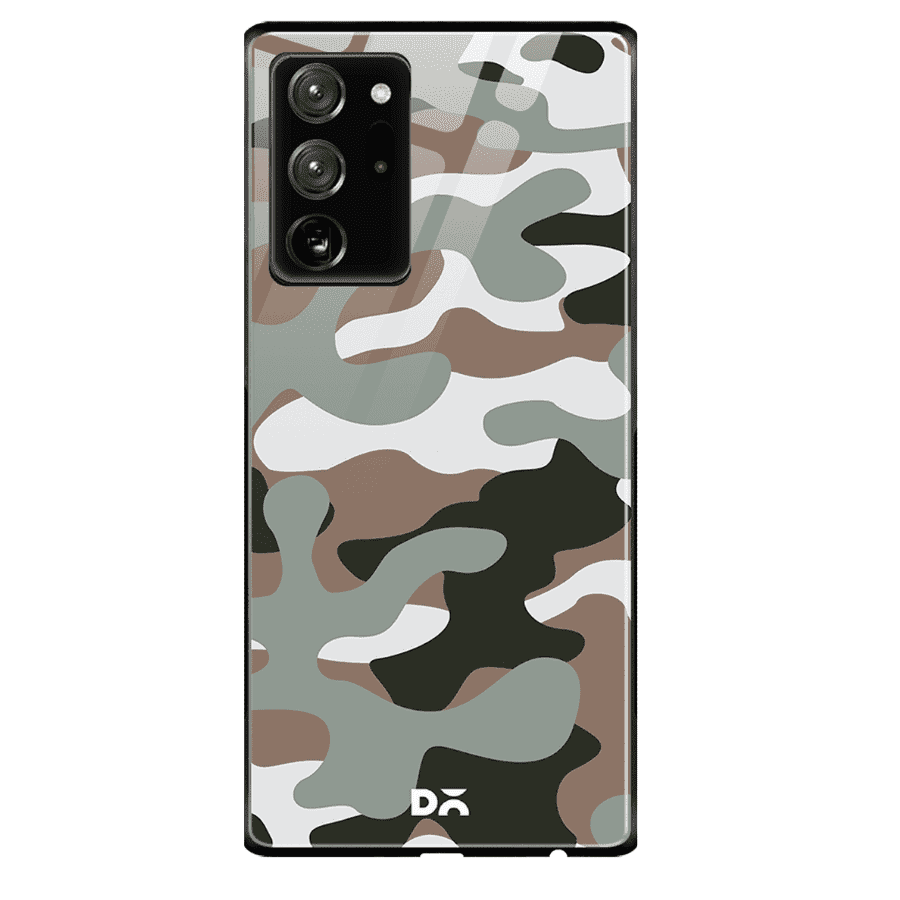 Camouflage Army Glass Case Cover For Samsung Galaxy Note 20 Ultra   Klippik Kuwait