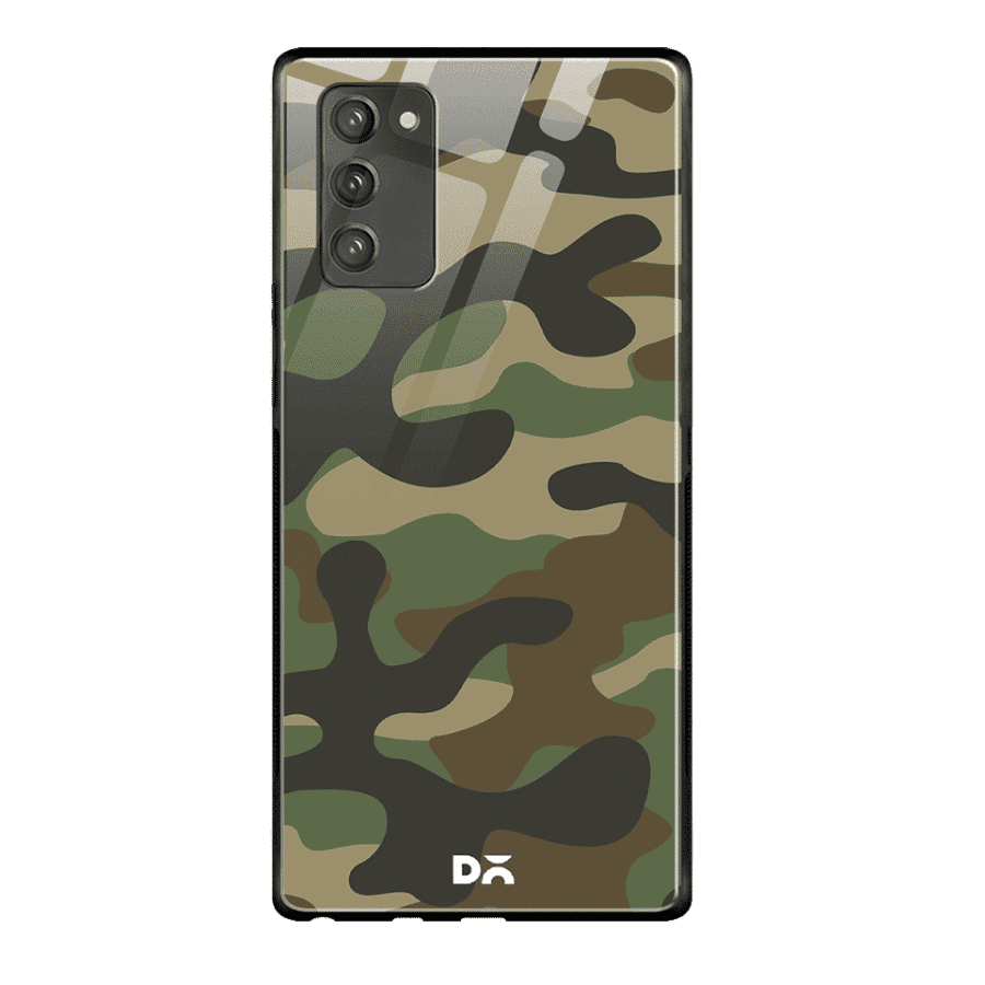 Camouflage Glass Case Cover For Samsung Galaxy Note 20 | Klippik Kuwait