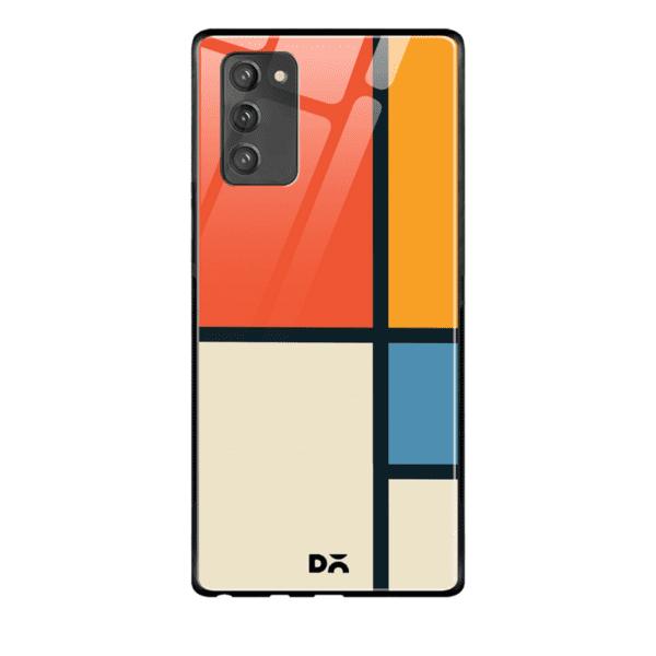 Orange Window Glass Case Cover for Samsung Galaxy Note 20 | Klippik Kuwait