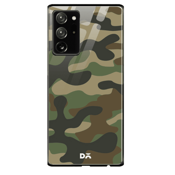 Camouflage Glass Case Cover For Samsung Galaxy Note 20 Ultra | Klippik Kuwait
