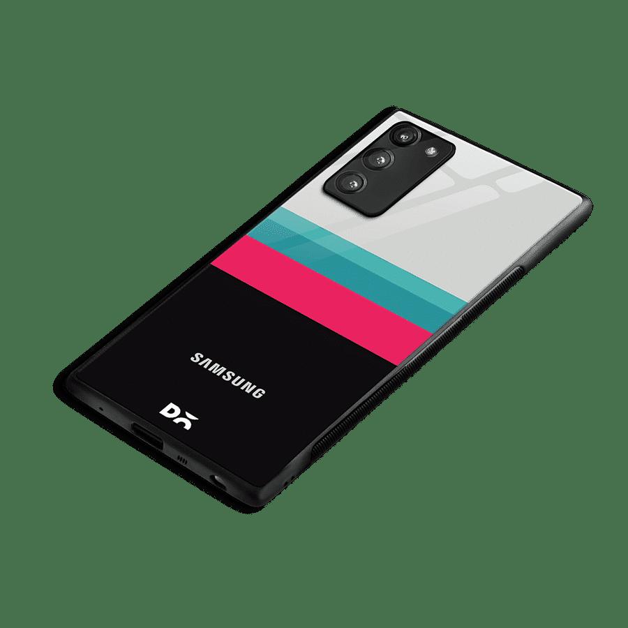 Black & White Glass Case Cover For Samsung Galaxy Note 20 | Klippik Kuwait