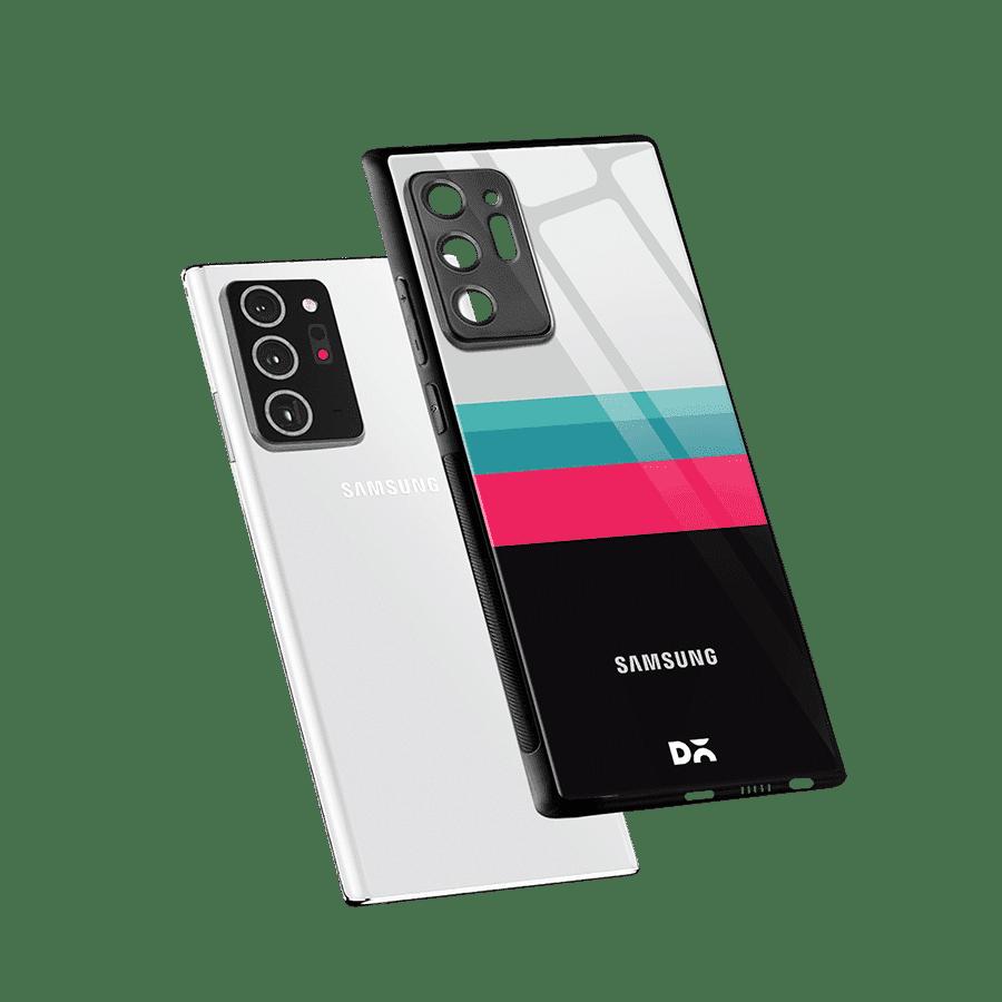 Black & White Glass Case Cover For Samsung Galaxy Note 20 Ultra | Klippik Kuwait