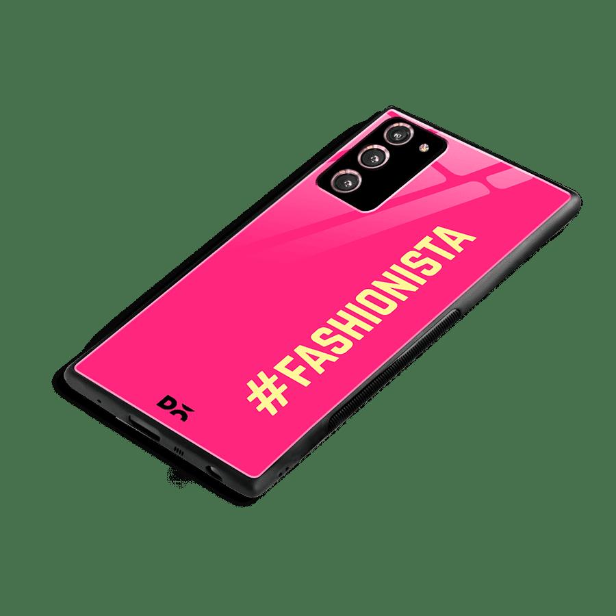 Fashionista Glass Case Cover for Samsung Galaxy Note 20 | Klippik Kuwait
