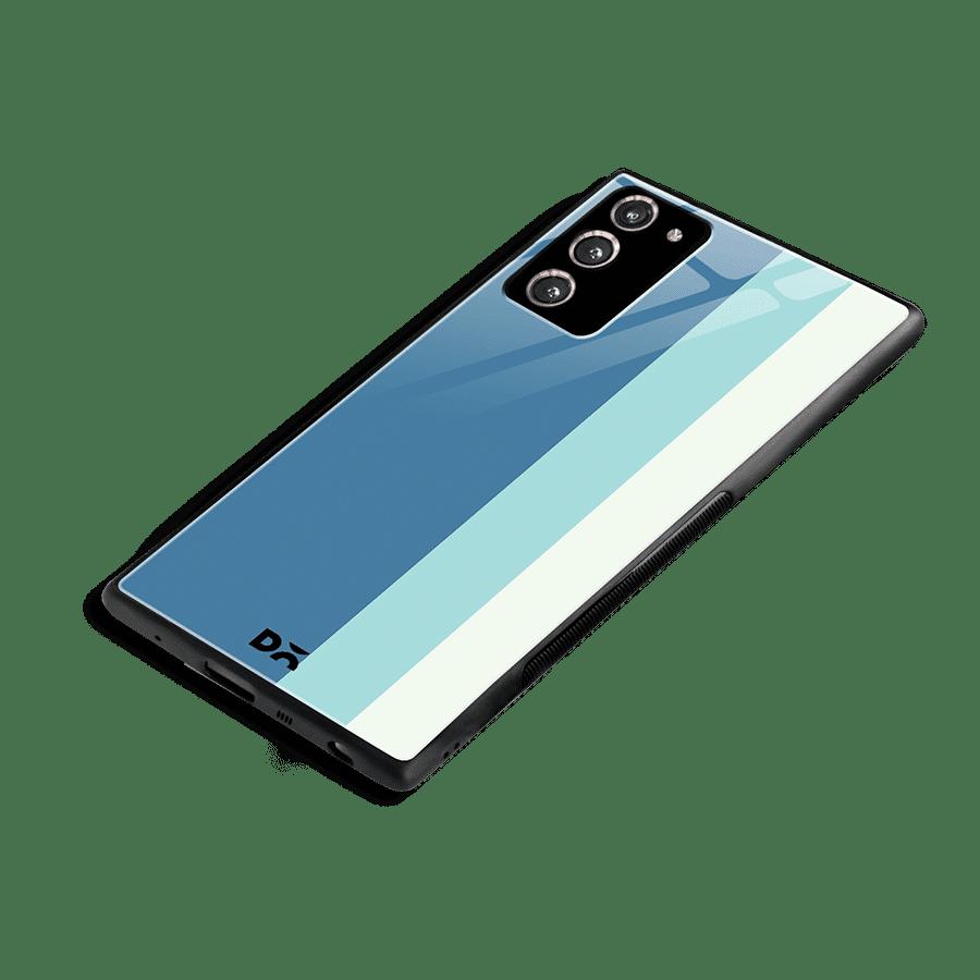 Light Blue Vertical Glass Case Cover for Samsung Galaxy Note 20   Klippik Kuwait
