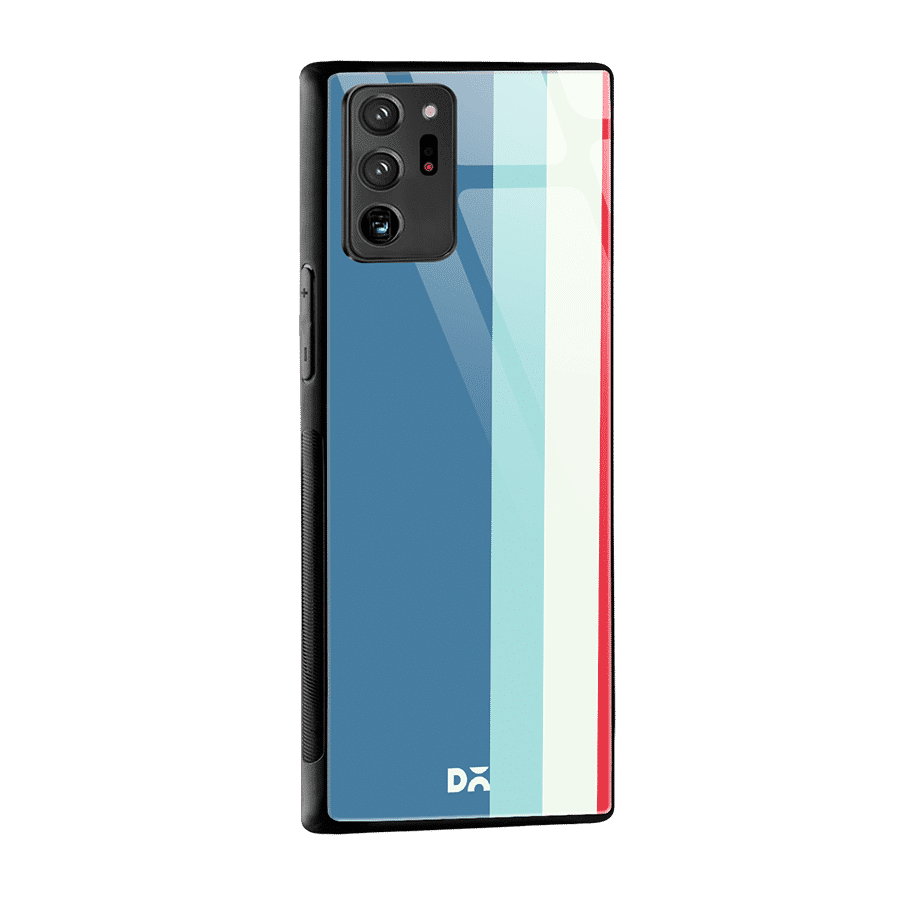 Light Blue Vertical Glass Case Cover for Samsung Galaxy Note 20 Ultra | Klippik Kuwait