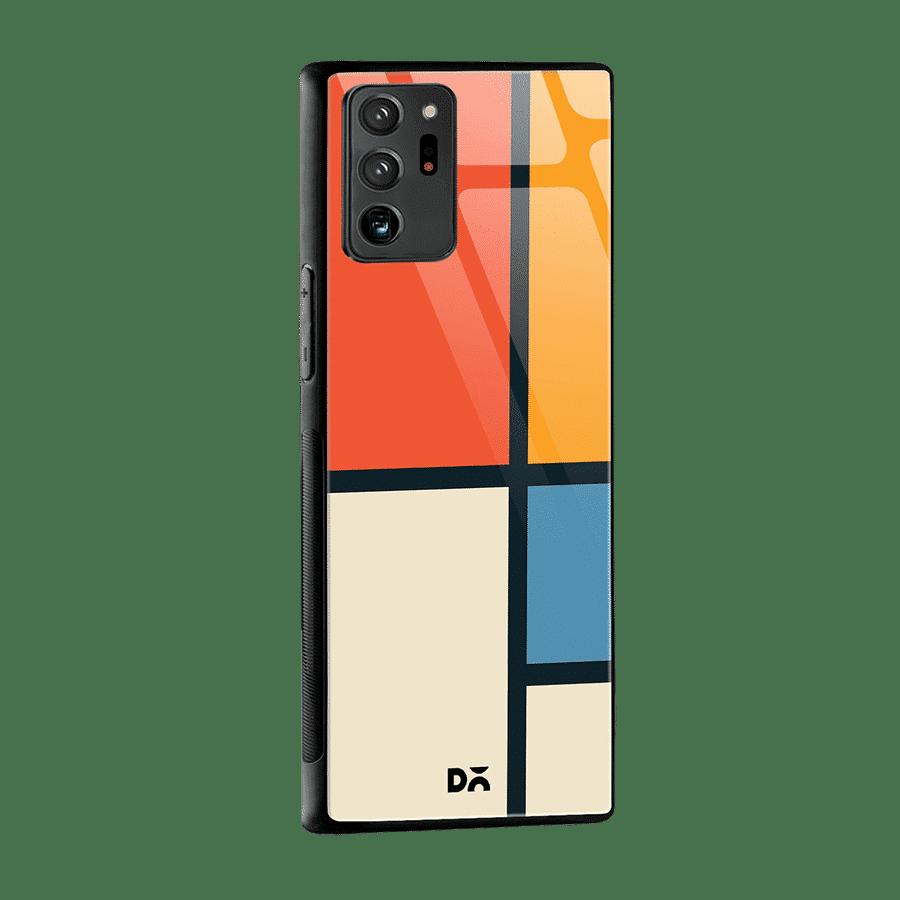Orange Window Glass Case Cover for Samsung Galaxy Note 20 Ultra | Klippik Kuwait