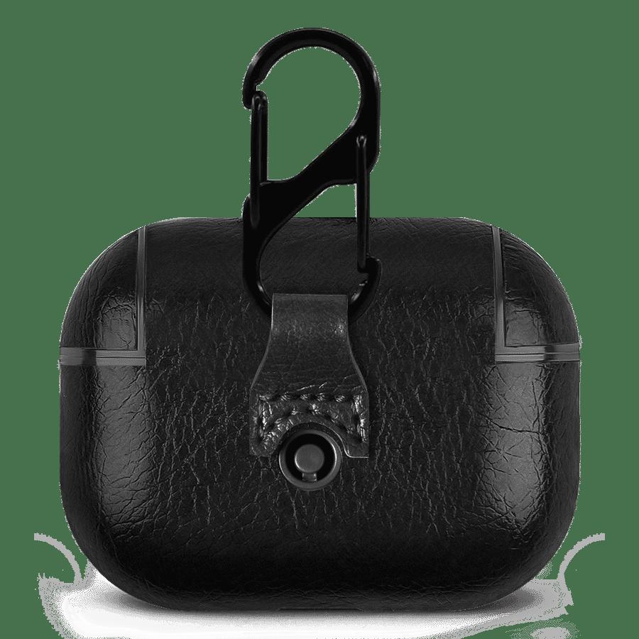 Black Leather AirPods Pro Case Cover   Klippik Kuwait