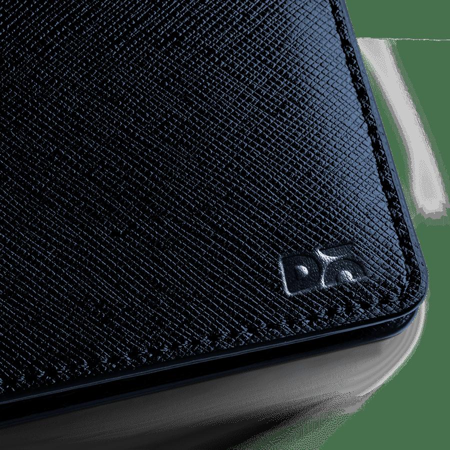 Blue Saffiano Leather UrbanGentleman Wallet | Klippik | Online Shopping Kuwait UAE Saudi