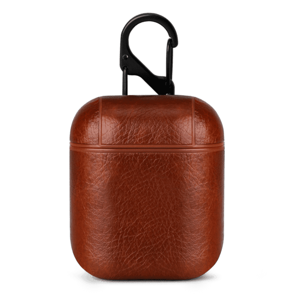 Brown Leather Airpods Case Cover | Klippik Kuwait