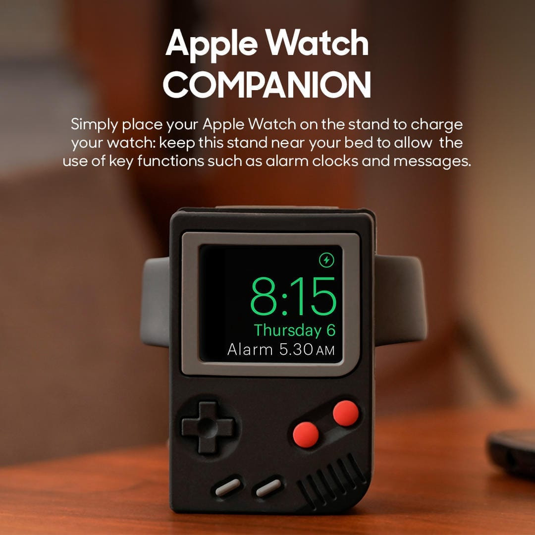 Gameboi - Apple Watch Stand (Black) | Klippik Kuwait UAE Saudi | Online Shopping Deals