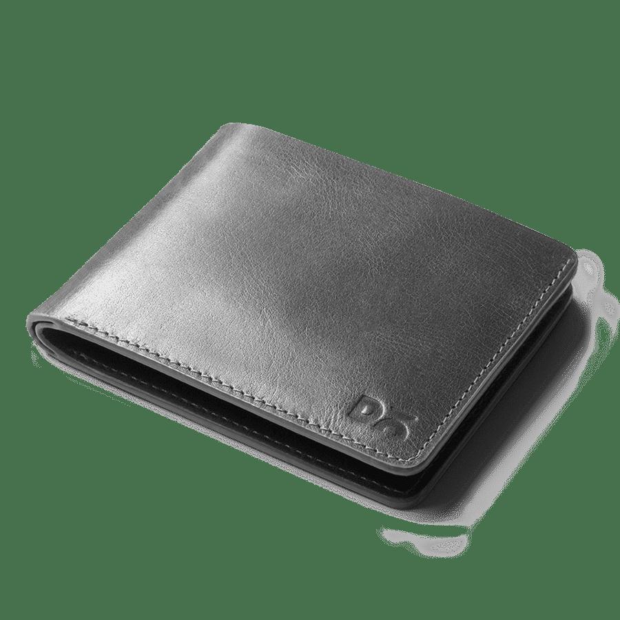 Grey Leather UrbanGentleman Wallet | Klippik | Online SHopping Kuwait UAE Saudi