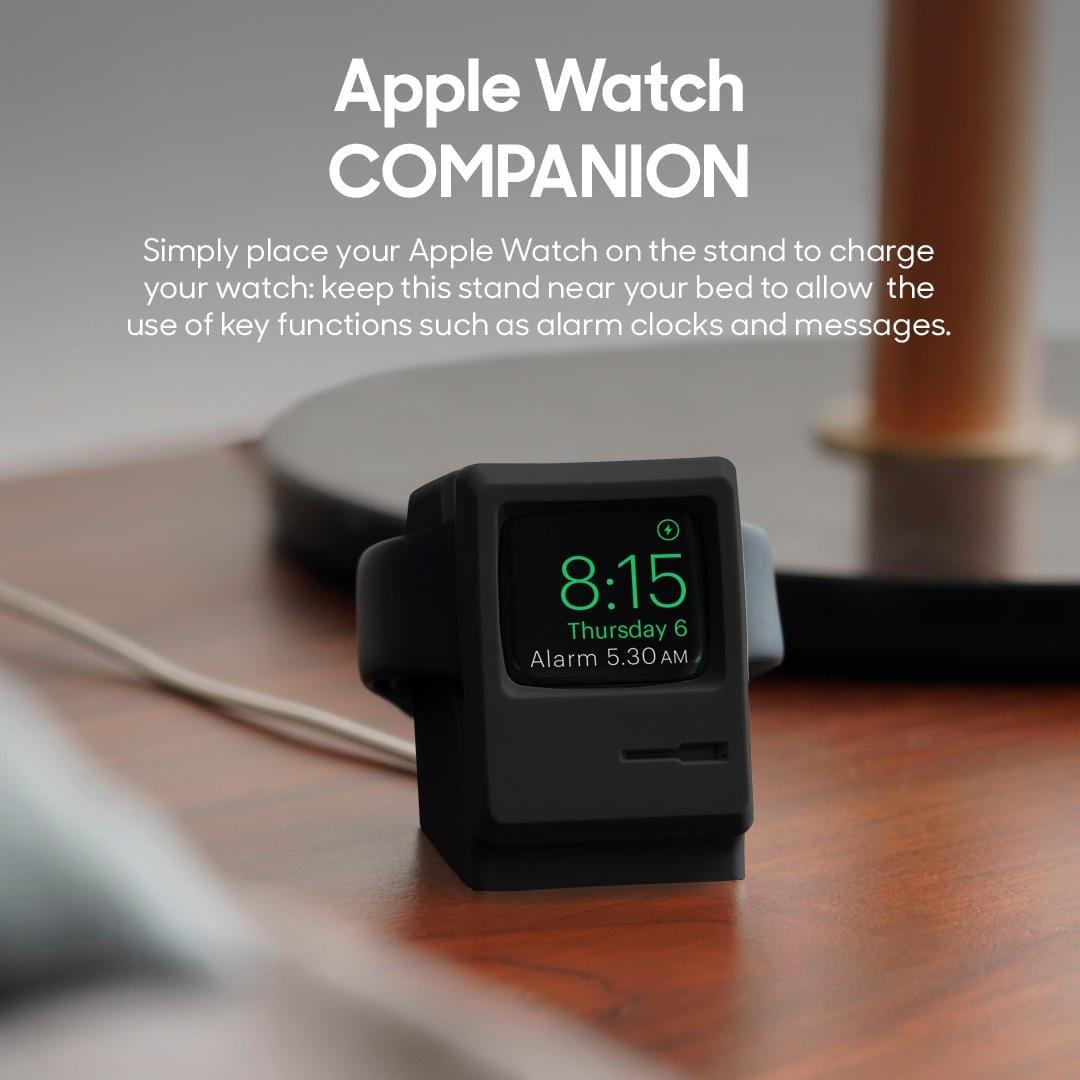 Nostalgic RetrO PC- Apple Watch Stand Black | Klippik | Online Deals Shopping Kuwait UAE Saudi