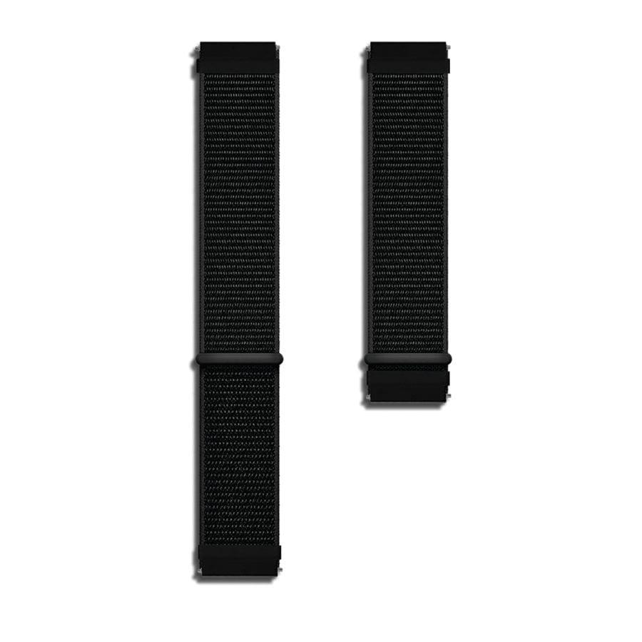 Black Nylon Universal WatchBand for Samsung, Huawei Smart Watches | Klippik | Online SHopping