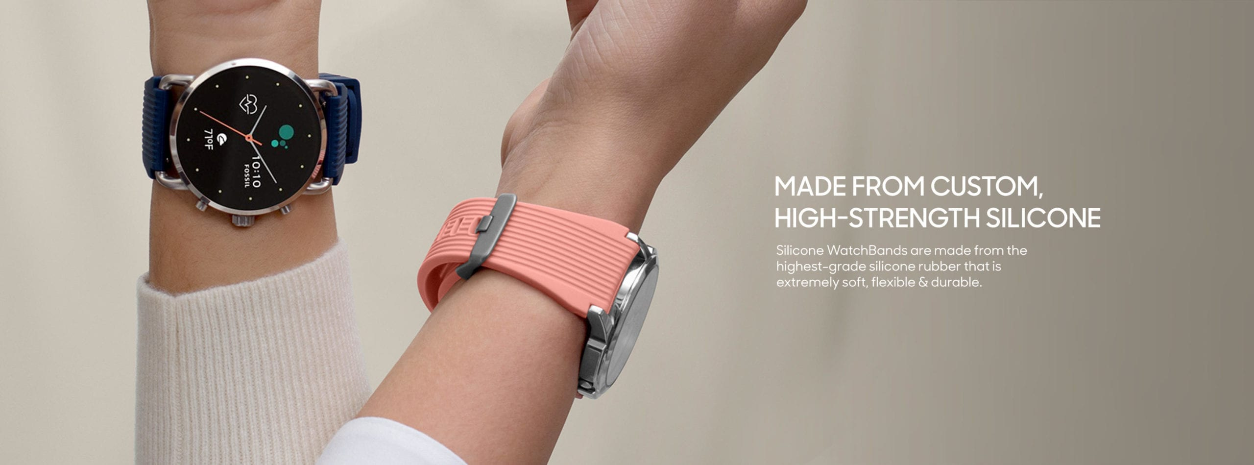 Black Silicone Universal WatchBand for Samsung, Huawei Smart Watches | Klippik | Online SHopping