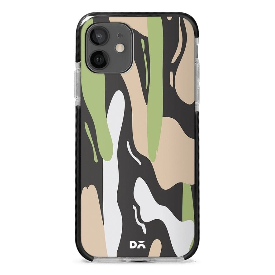 Pastel Camo Stride Case Cover for Apple iPhone 12 Mini and Apple iPhone 12 with great design and shock proof | Klippik | Online Shopping | Kuwait UAE Saudi
