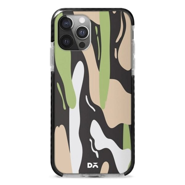 Pastel Camo Stride Case Cover for Apple iPhone 12 Pro and Apple iPhone 12 Pro Max with great design and shock proof | Klippik | Online Shopping | Kuwait UAE Saudi