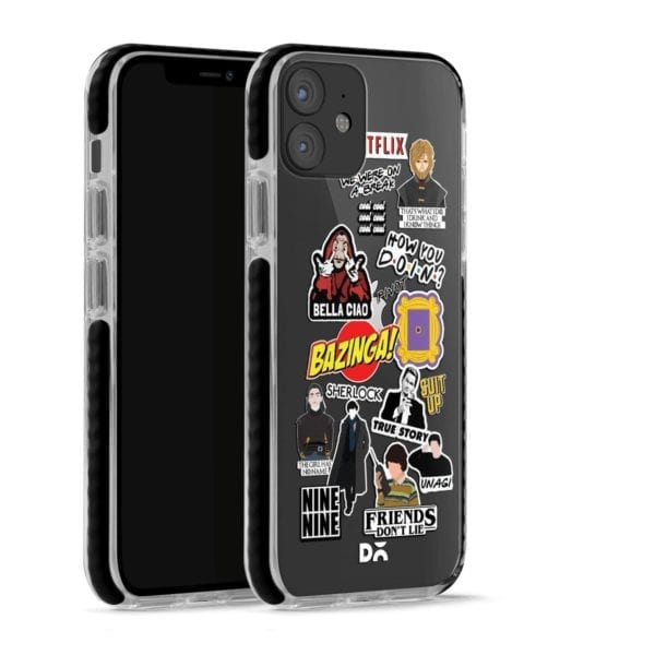 Binge Watch Stride Case Cover for Apple iPhone 12 Mini and Apple iPhone 12 with great design and shock proof | Klippik | Online Shopping | Kuwait UAE Saudi