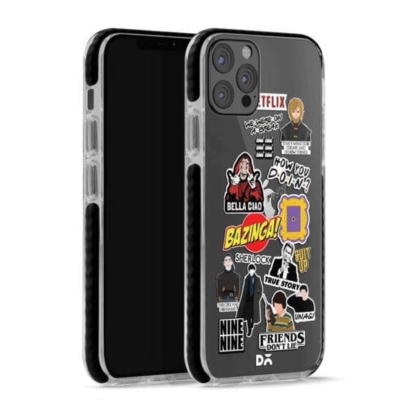 Binge Watch Stride Case Cover for Apple iPhone 12 Pro and Apple iPhone 12 Pro Max with great design and shock proof | Klippik | Online Shopping | Kuwait UAE Saudi