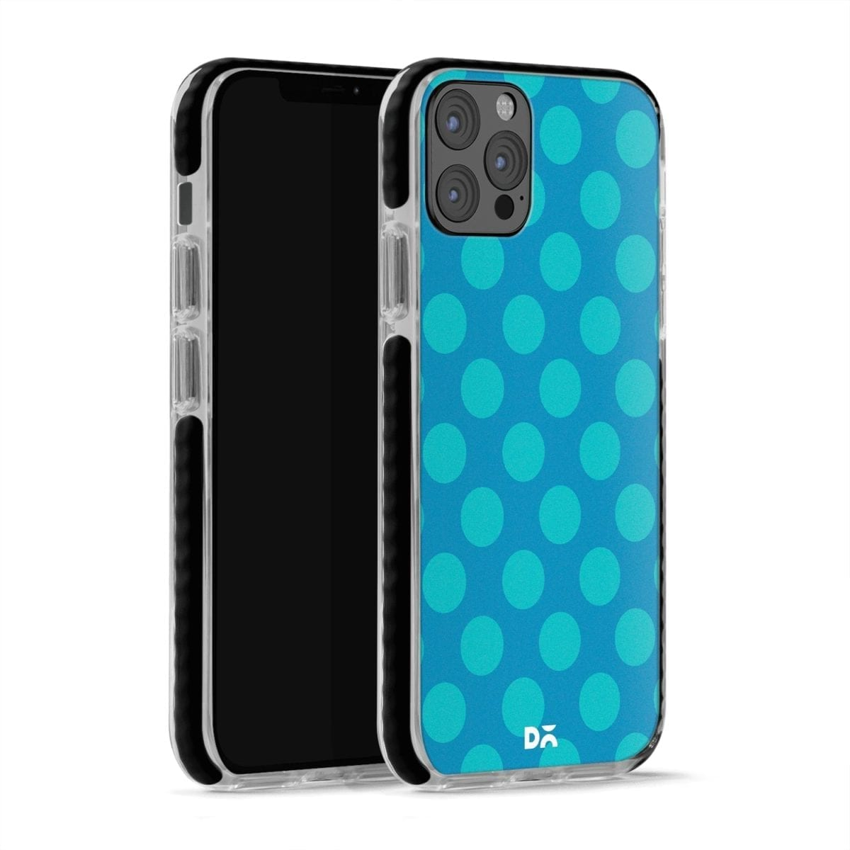 Blue Polka Stride Case Cover for Apple iPhone 12 pro and Apple iPhone Pro Max with great design and shock proof | Klippik | Online Shopping | Kuwait UAE Saudi