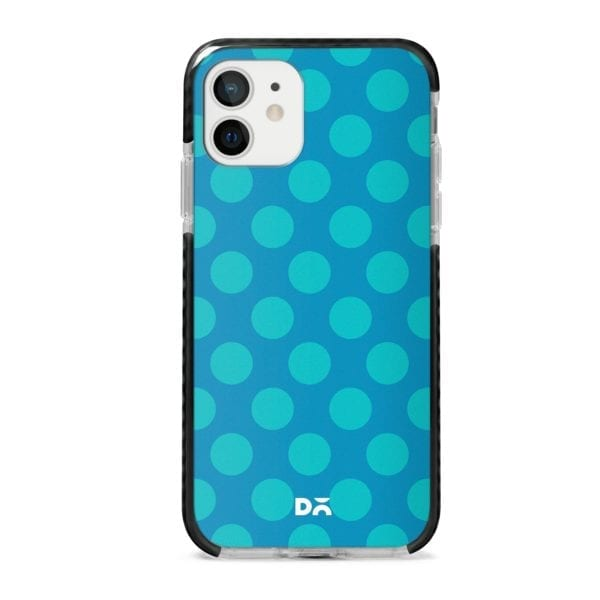 Blue Polka Stride Case Cover for Apple iPhone 12 Mini and Apple iPhone 12 with great design and shock proof | Klippik | Online Shopping | Kuwait UAE Saudi