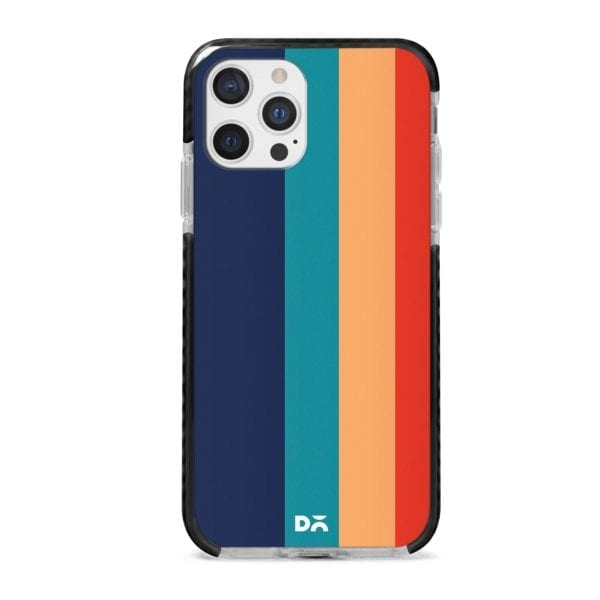 Blue Vertical Lines Stride Case Cover for Apple iPhone 12 Pro and Apple iPhone 12 Pro Max with great design and shock proof | Klippik | Online Shopping | Kuwait UAE Saudi