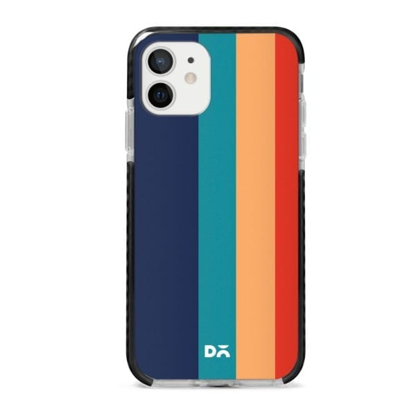 Blue Vertical Lines Stride Case Cover for Apple iPhone 12 Mini and Apple iPhone 12 with great design and shock proof | Klippik | Online Shopping | Kuwait UAE Saudi