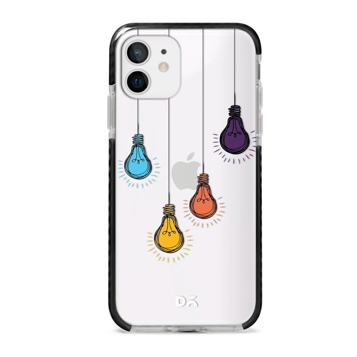 Clear Bulbs Stride Case Cover for Apple iPhone 12 Mini and Apple iPhone 12 with great design and shock proof | Klippik | Online Shopping | Kuwait UAE Saudi
