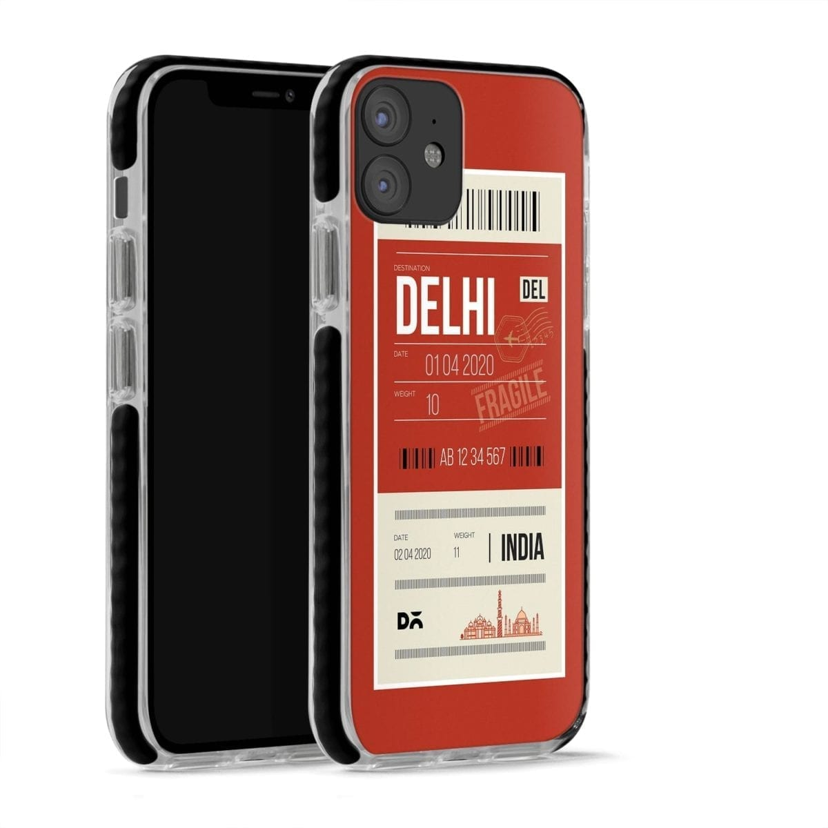 Delhi City Tag Stride Case Cover for Apple iPhone 12 Mini and Apple iPhone 12 with great design and shock proof | Klippik | Online Shopping | Kuwait UAE Saudi