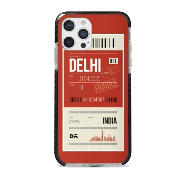 Delhi City Tag Stride Case Cover for Apple iPhone 12 Pro and Apple iPhone 12 Pro Max with great design and shock proof | Klippik | Online Shopping | Kuwait UAE Saudi