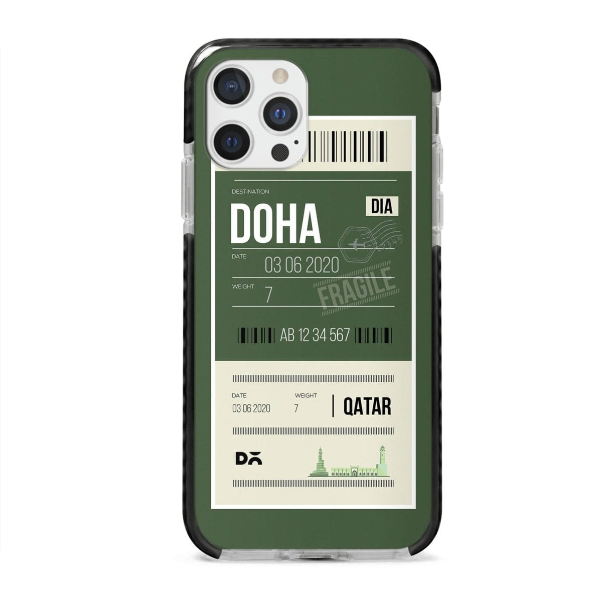 Doha City Tag Stride Case Cover for Apple iPhone 12 Pro and Apple iPhone 12 Pro Max with great design and shock proof | Klippik | Online Shopping | Kuwait UAE Saudi