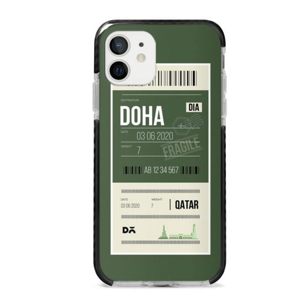 Doha City Tag Stride Case Cover for Apple iPhone 12 Mini and Apple iPhone 12 with great design and shock proof | Klippik | Online Shopping | Kuwait UAE Saudi