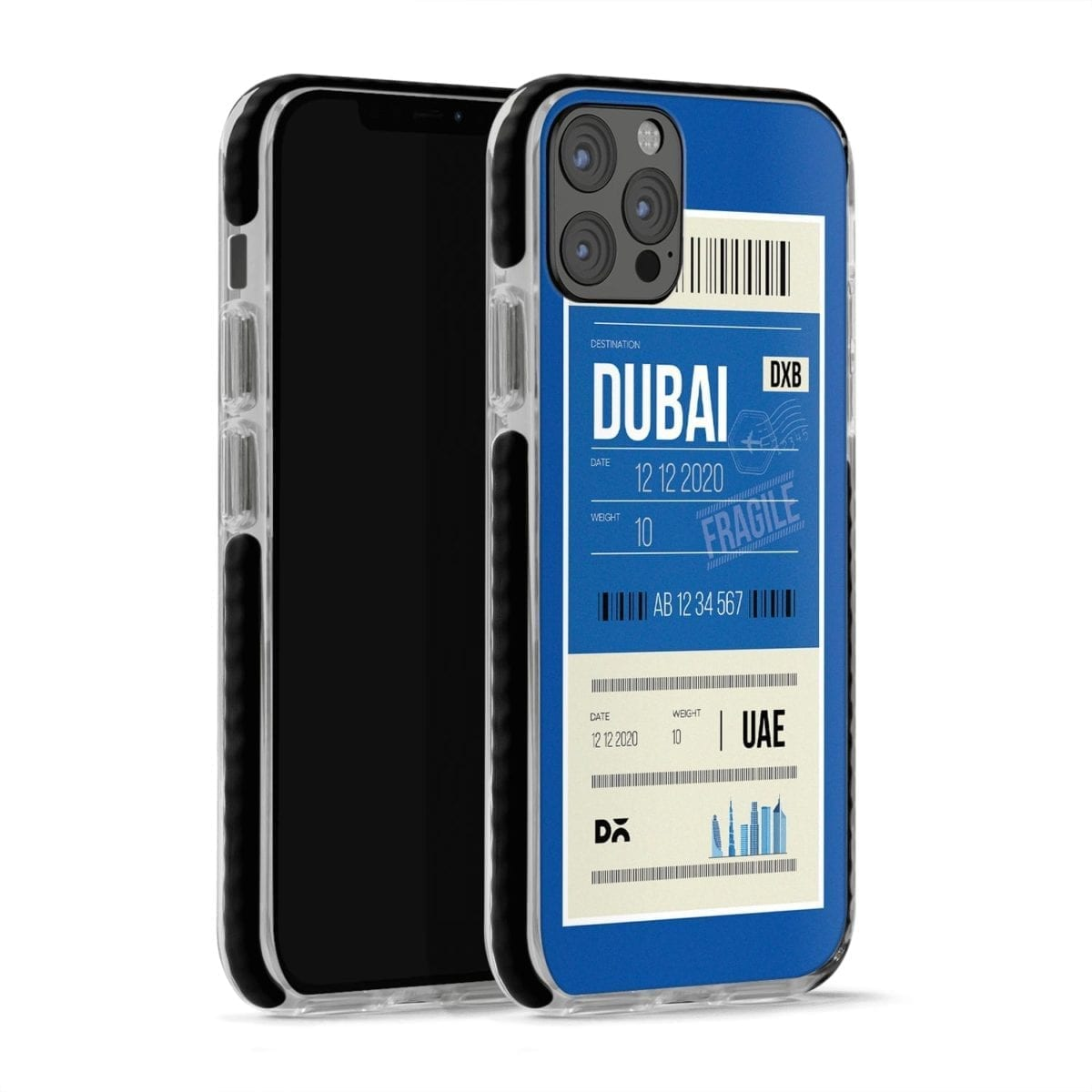 Dubai City Tag Stride Case Cover for Apple iPhone 12 Pro and Apple iPhone 12 Pro Max with great design and shock proof | Klippik | Online Shopping | Kuwait UAE Saudi