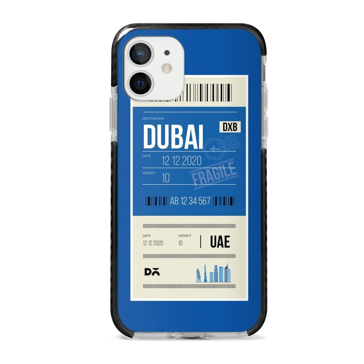Dubai City Tag Stride Case Cover for Apple iPhone 12 Mini and Apple iPhone 12 with great design and shock proof | Klippik | Online Shopping | Kuwait UAE Saudi