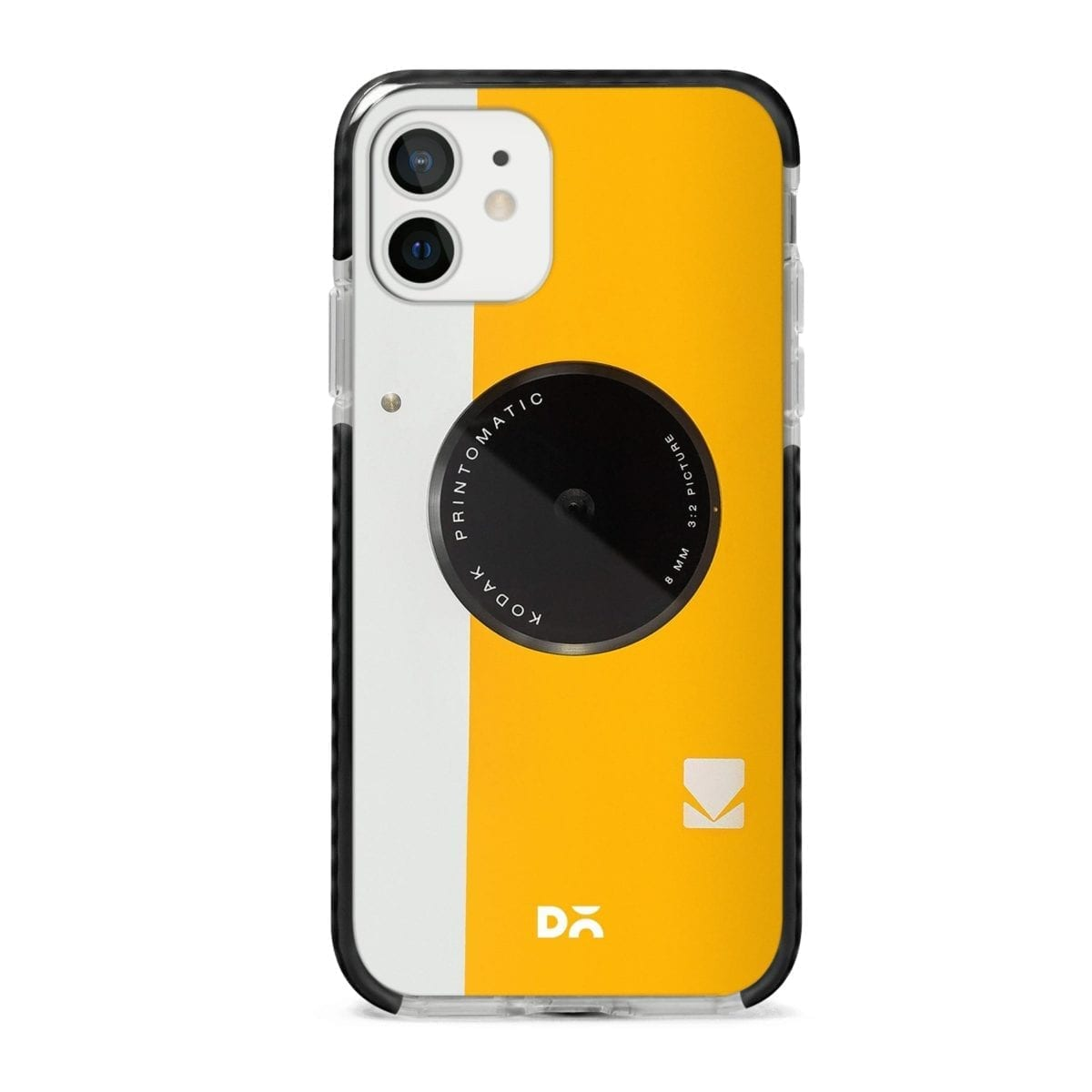 Kodak Yellow Stride Case Cover for Apple iPhone 12 Mini and Apple iPhone 12 with great design and shock proof | Klippik | Online Shopping | Kuwait UAE Saudi