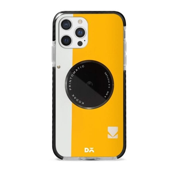 Kodak Yellow Stride Case Cover for Apple iPhone 12 Pro and Apple iPhone 12 Pro Max with great design and shock proof | Klippik | Online Shopping | Kuwait UAE Saudi